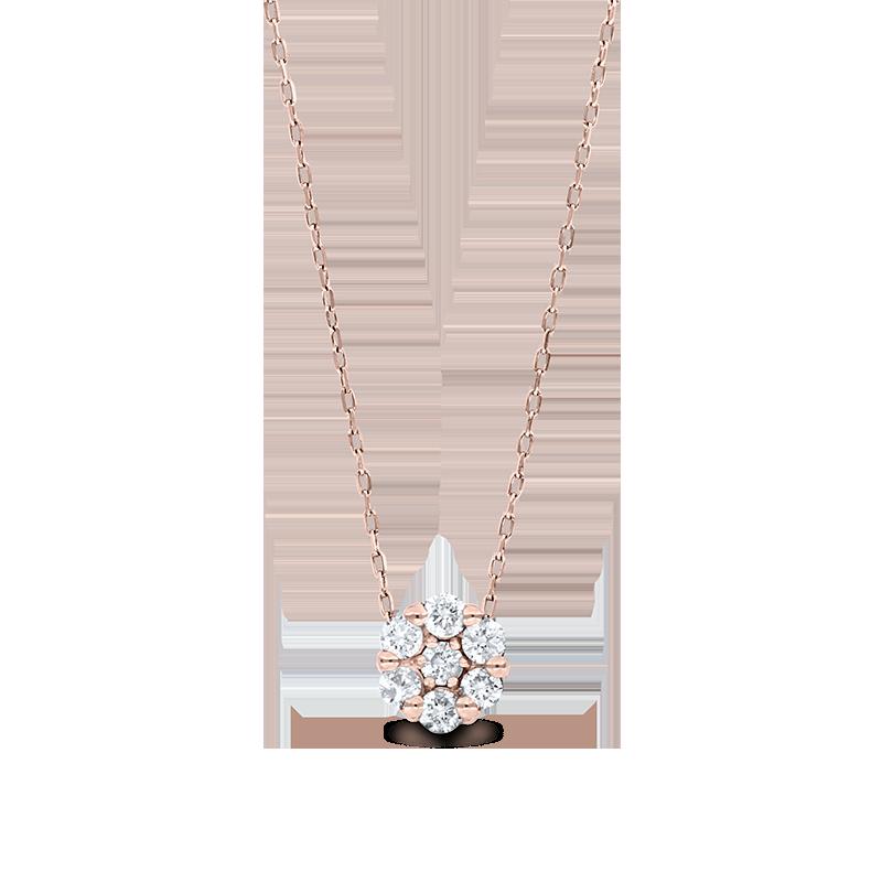 Rose Gold Diamond Cluster Pendant