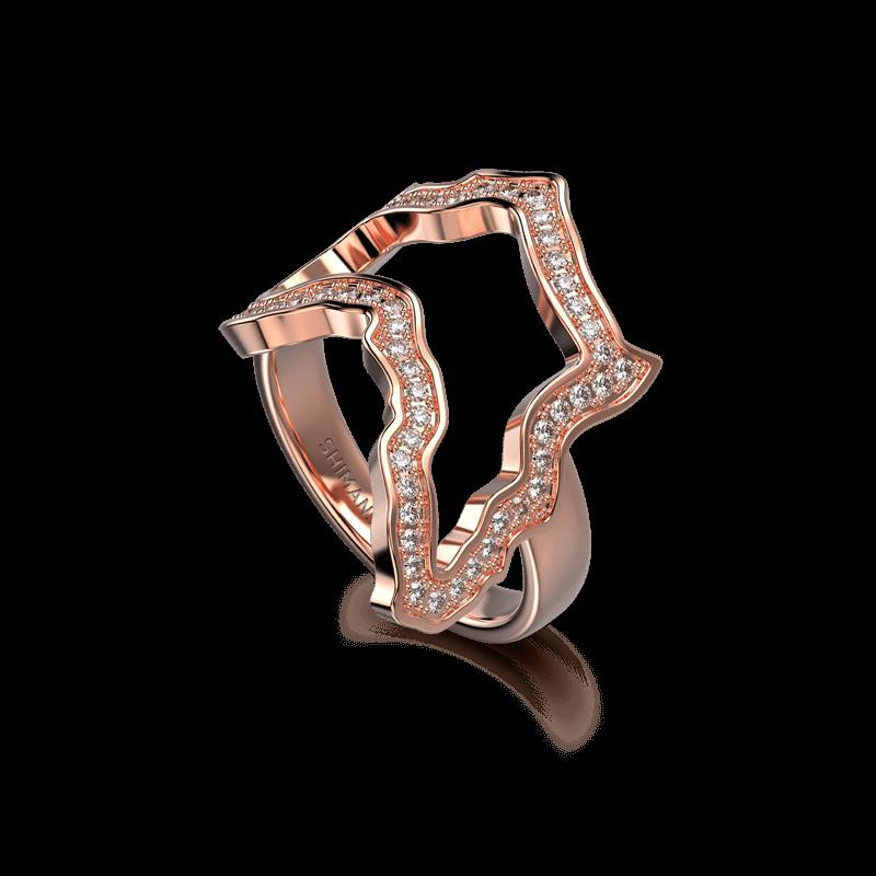 My Africa pave Ring 18K Rose Gold | Shimansky
