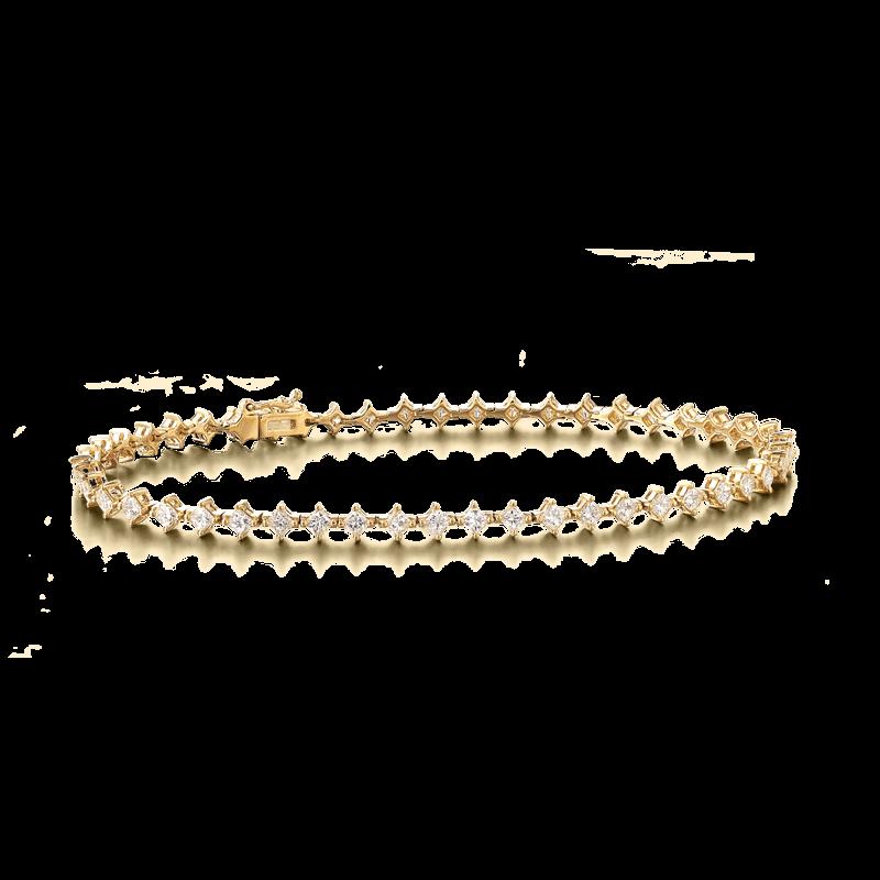 My Girl Diagonal Bracelet 18K Yellow Gold | Shimansky