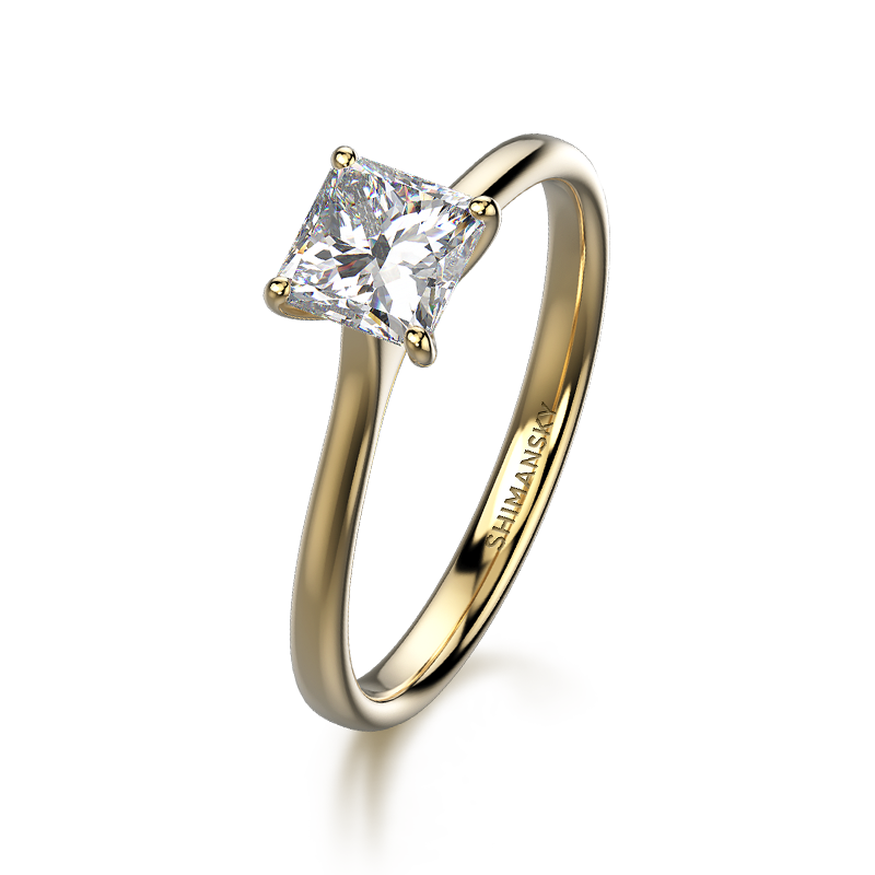 My Girl Solitaire Ring 18K Yellow Gold   Shimansky