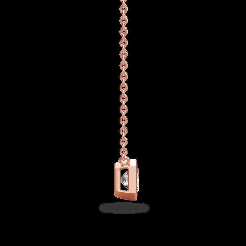 My Girl Tube Set Brushed Pendant 18K Rose Gold | Shimansky