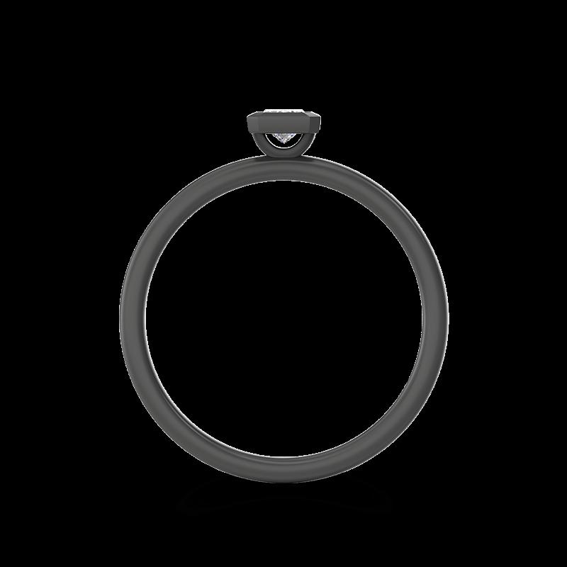 My Girl Tube Set Brushed Ring Black Gold | Shimansky