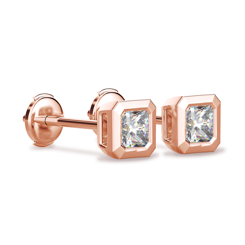 My Girl Tube Set Earrings 18K Rose Gold | Shimansky