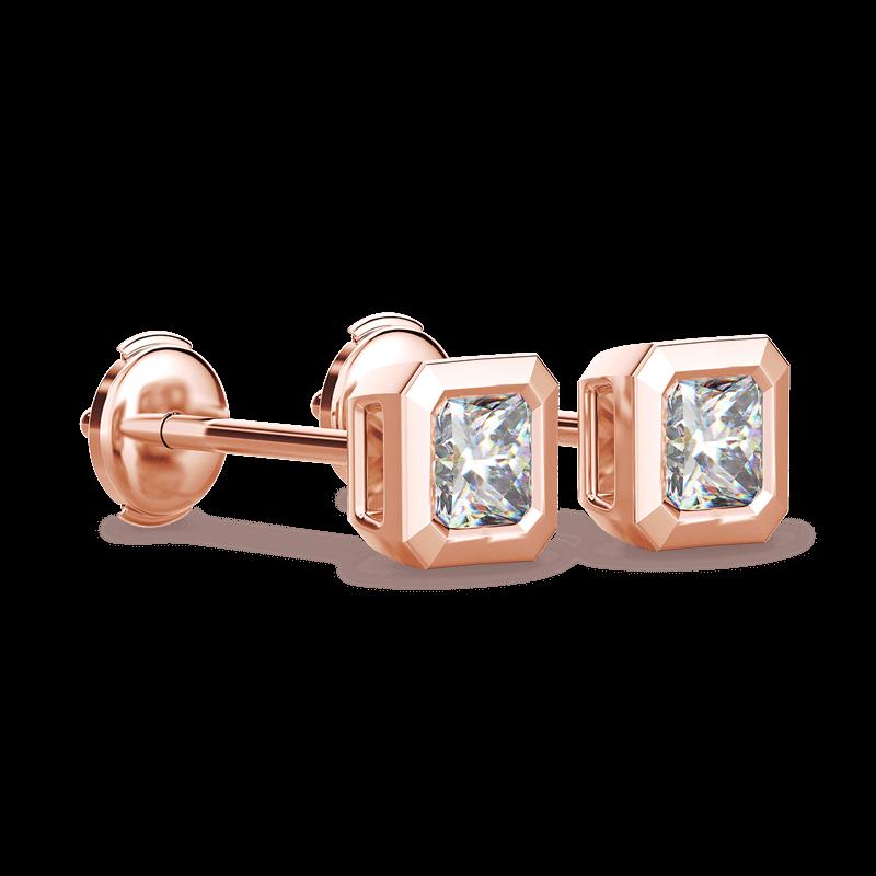 My Girl Tube Set Earrings 18K Rose Gold | Shimansky