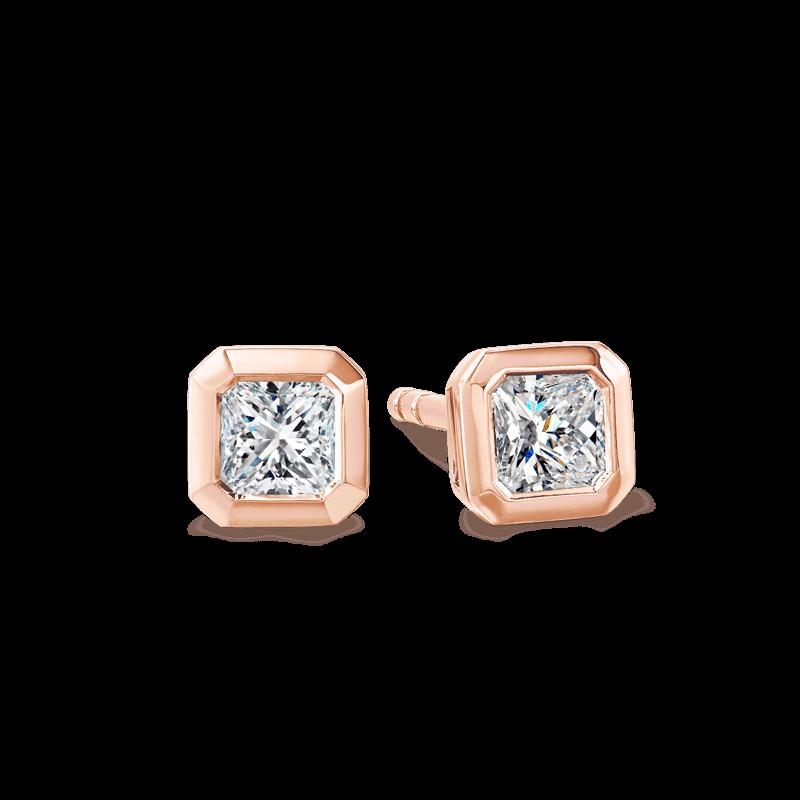 My Girl Tube earrings 18K Rose Gold | Shimansky