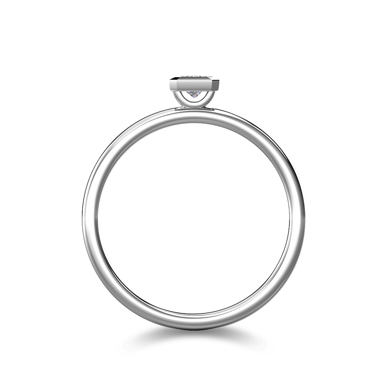 My Girl Tube Set Ring 18K White Gold | Shimansky