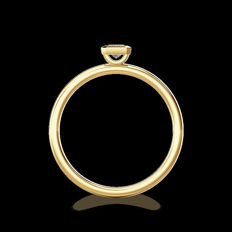 My Girl Tube Set Ring 18K Yellow Gold | Shimansky