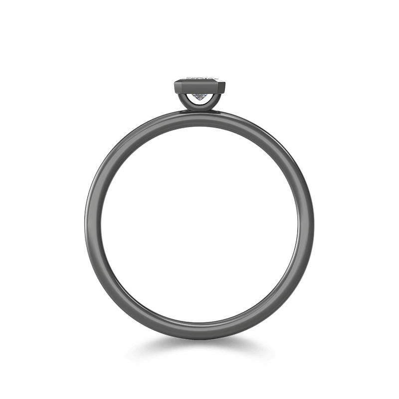 My Girl Tube Set Ring 18K Black Gold | Shimansky