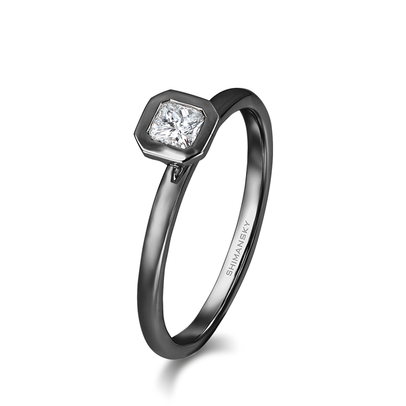 My Girl Tube Set Solitaire Diamond Ring