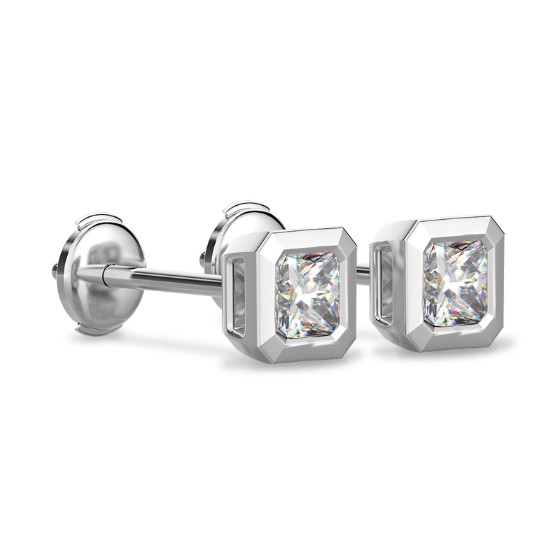 My Girl Tube Set earrings 18K White Gold | Shimansky