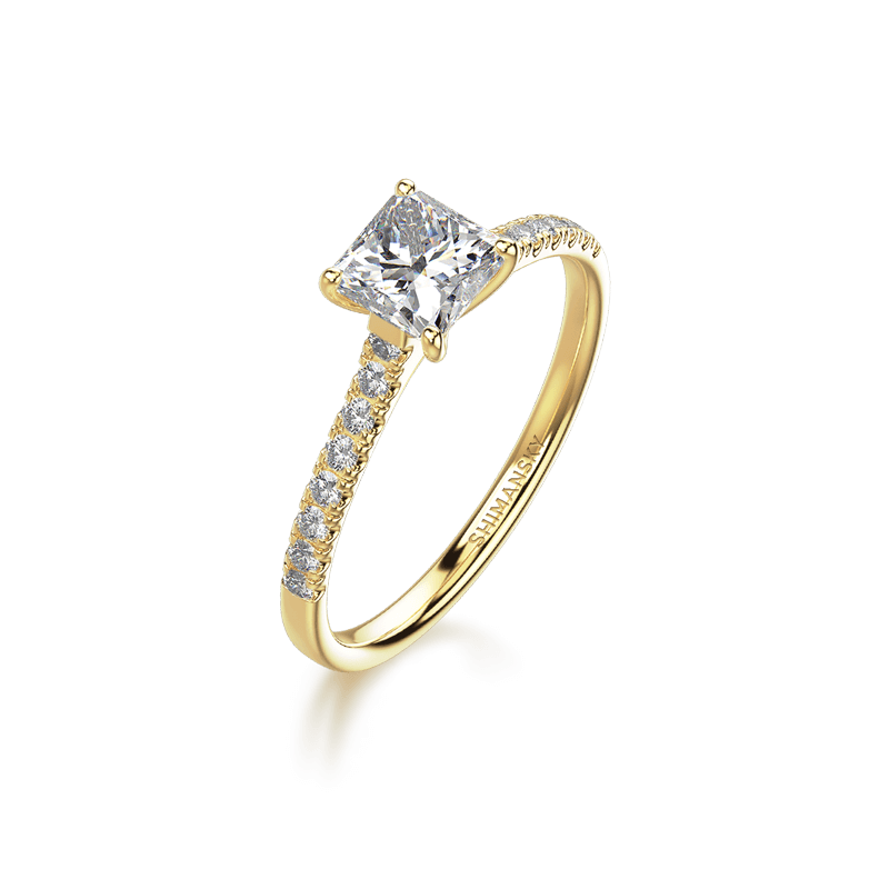 My Girl Ring with Micro Set Diamonds 18K Yellow Gold | Shimansky
