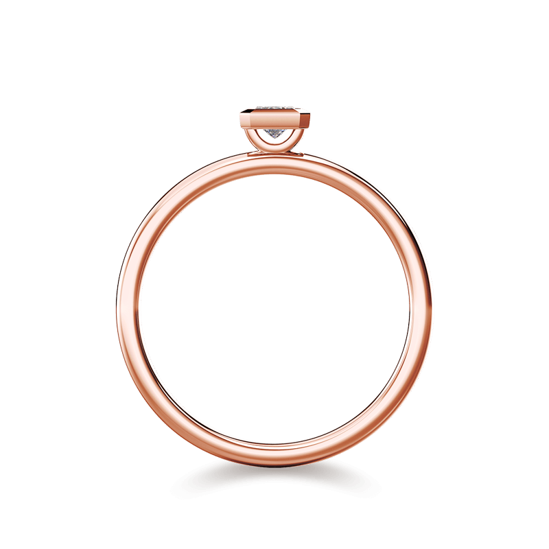 My Girl Tube Set Ring 18K Rose Gold | Shimansky