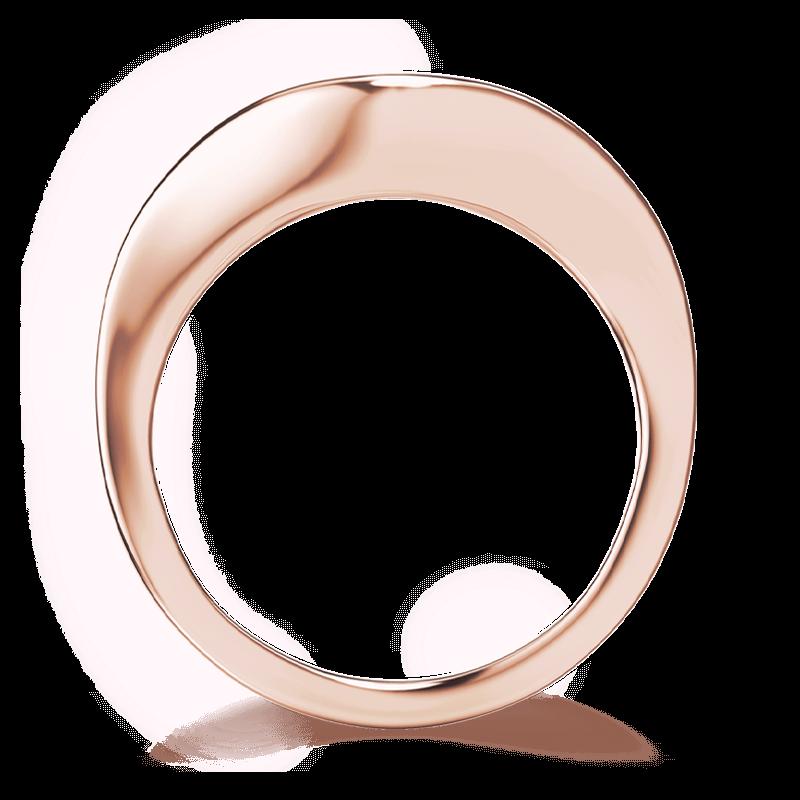 Silhouette double shank ring 18k rose gold | Shimansky