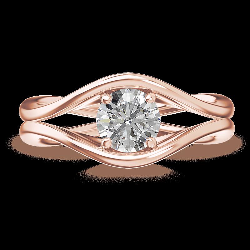 Silhouette double shank ring   18k rose gold   Shimansky