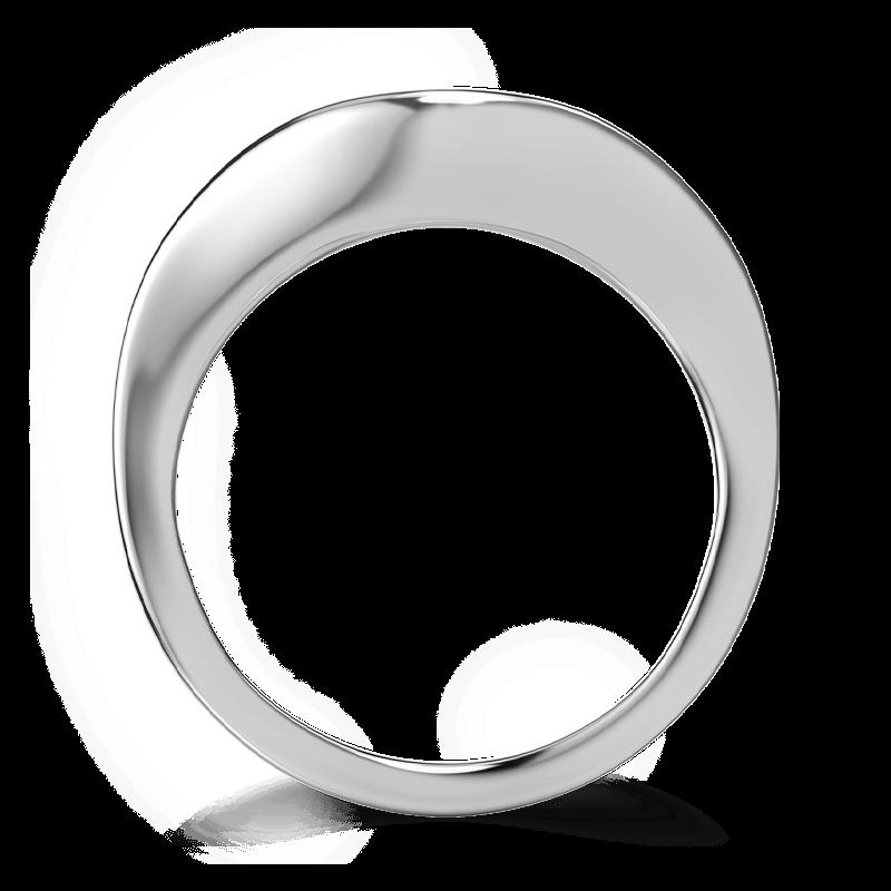 Silhouette double shank ring 18k white gold | Shimansky