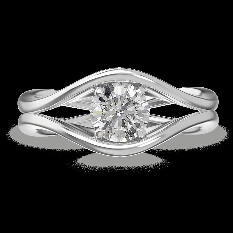 Silhouette double shank ring | Shimansky
