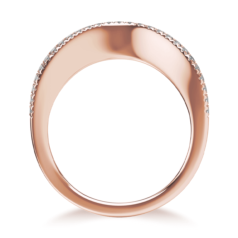 Silhouette micro set band 18k rose gold | Shimansky