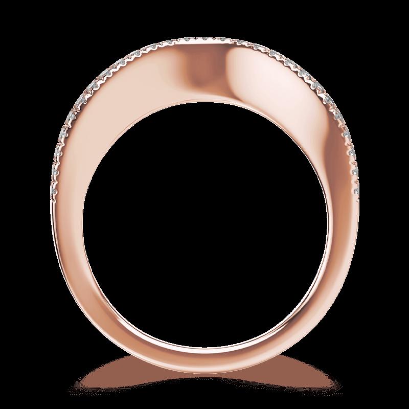 Silhouette micro set band 18k rose gold | Shimansky