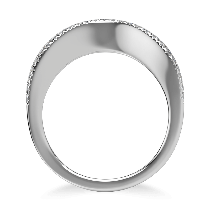 Silhouette micro set band 18k white gold | Shimansky