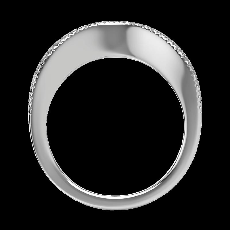 Silhouette micro set band 18k white gold   Shimansky