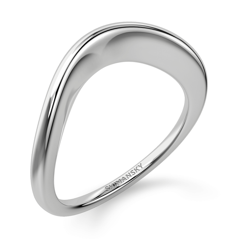 Silhouette band 18k white gold | Shimansky