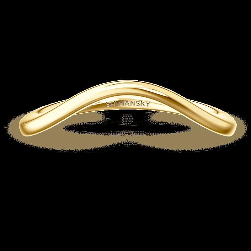 silhouette plain band | 18k yellow gold | Shimansky