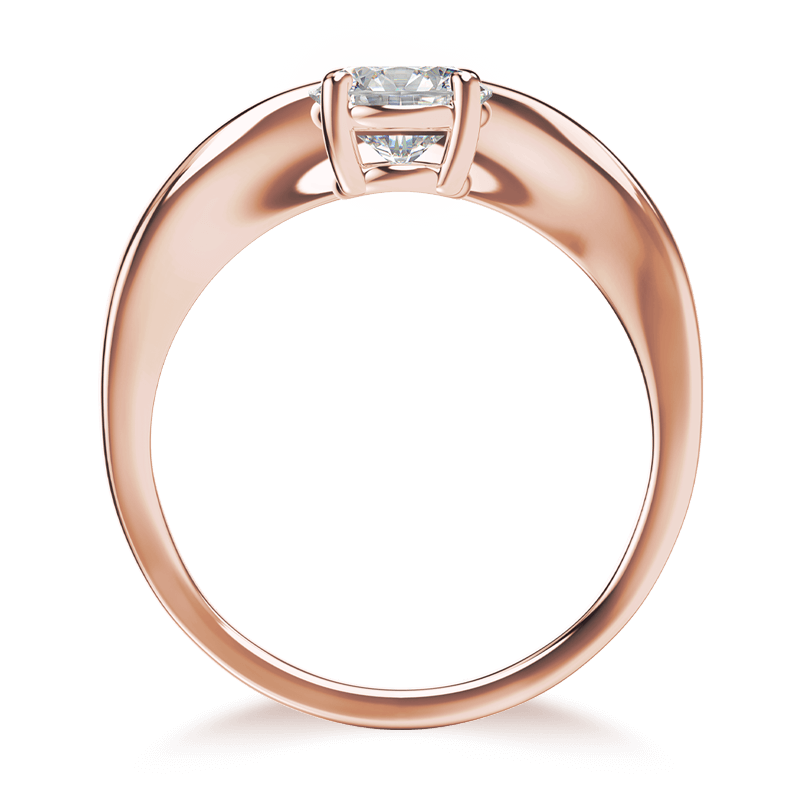 Silhouette single shank ring 18k rose gold | Shimansky