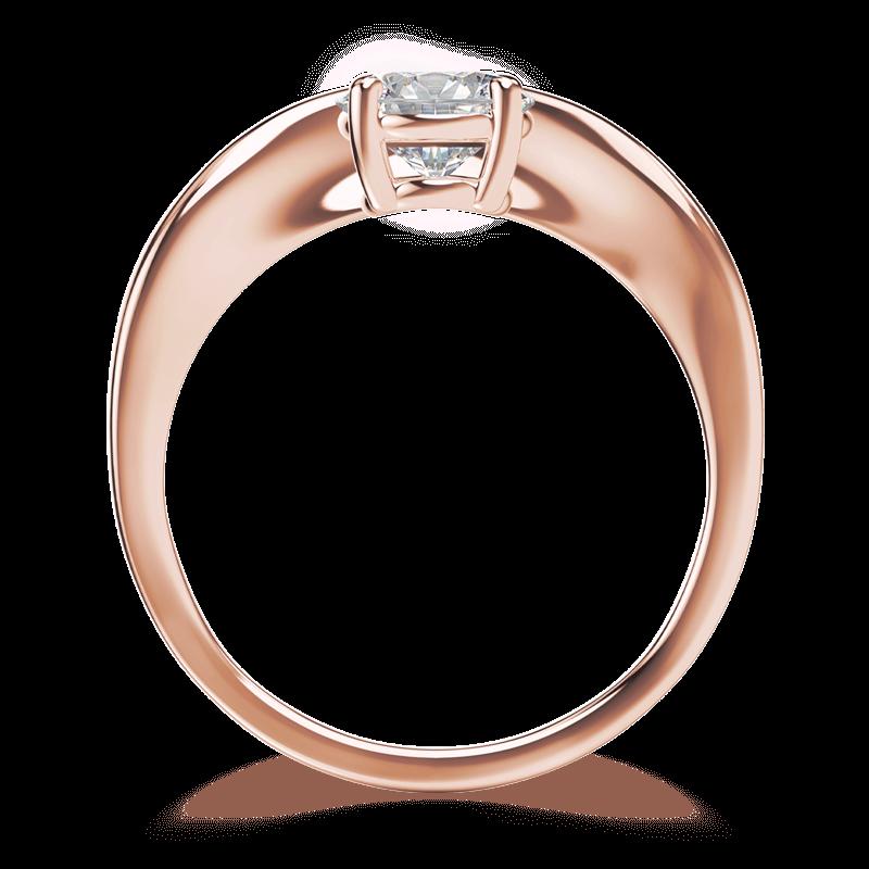 Silhouette single shank ring 18k rose gold | Shimansky