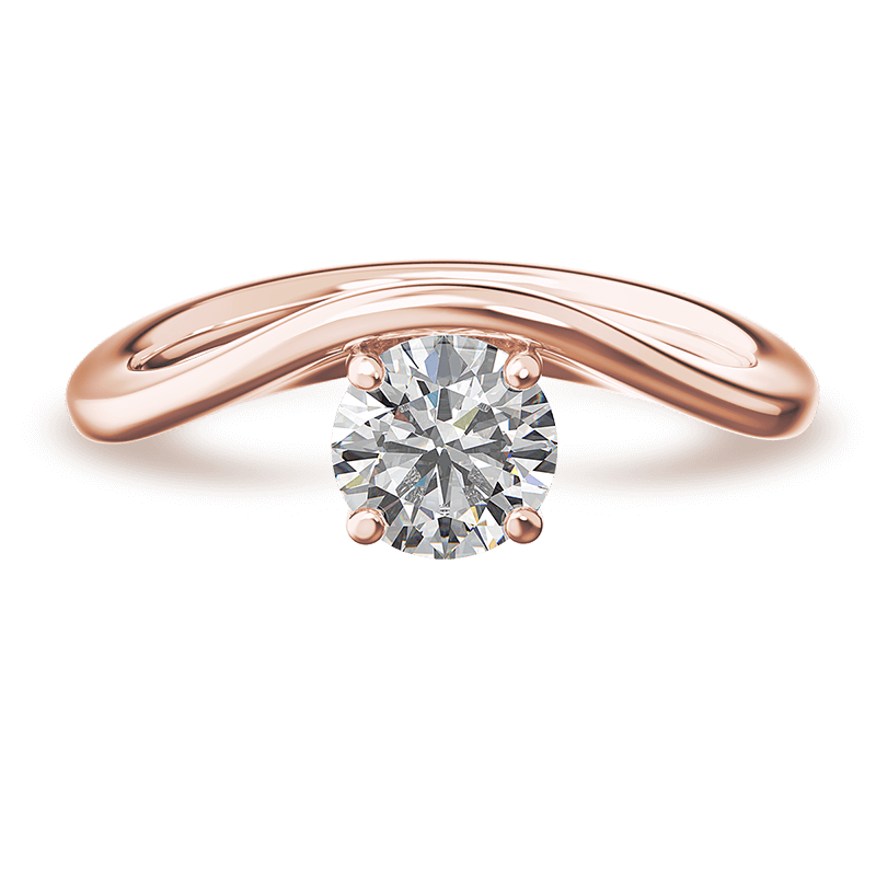 Silhouette single shank ring | 18k rose gold | Shimansky