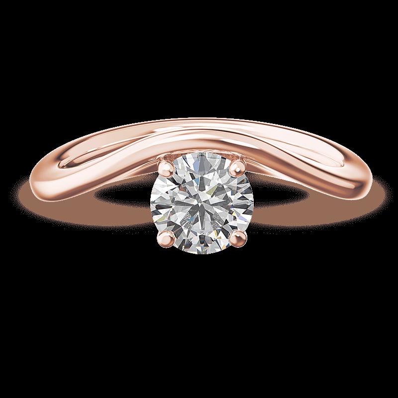 Silhouette single shank ring | 18k rose gold | Shimansky