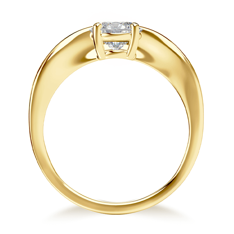Silhouette single shank ring 18k yellow gold | Shimansky