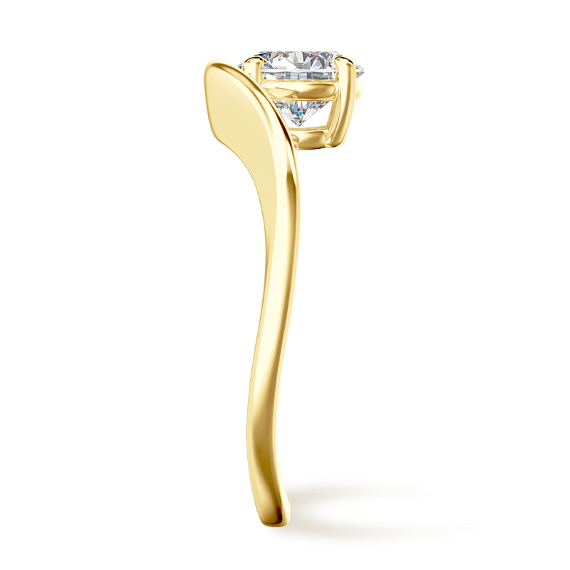 Silhouette single shank ring 18k yellow gold | Shimansky