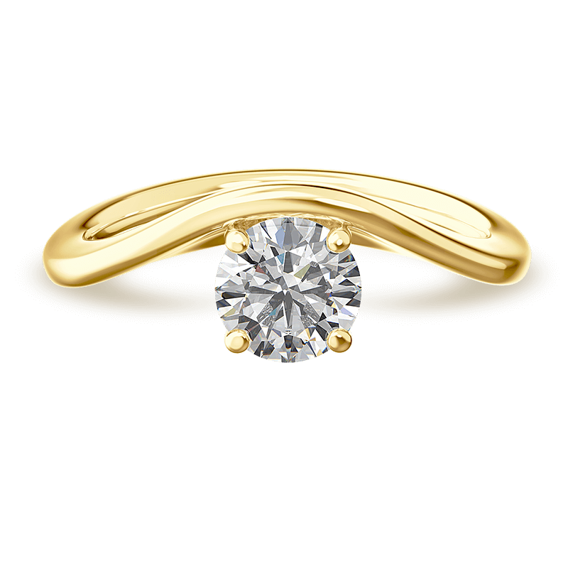 silhouette single shank ring | 18k yellow gold | Shimansky
