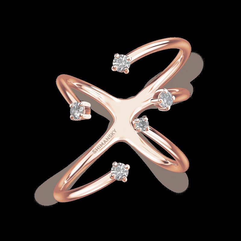 Southern Cross Claw Set Ring 18K Rose Gold | Shimansky