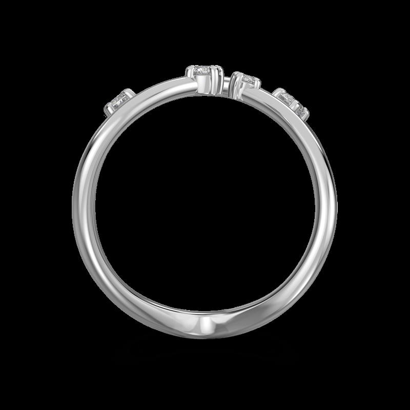 Southern Cross Claw Set Ring 18K White Gold | Shimansky