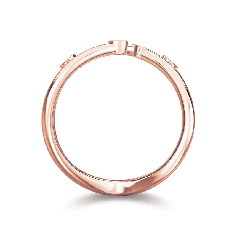 Southern Cross Tube Set Ring 18K Rose Gold | Shimansky