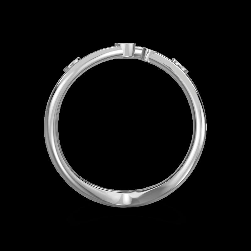 Southern Cross Tube Set Ring 18K White Gold | Shimansky