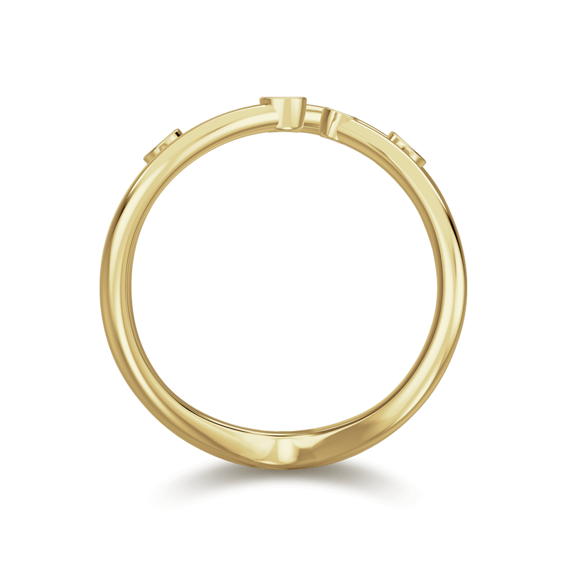 Southern Cross Tube Set Ring 18K Yellow Gold | Shimansky