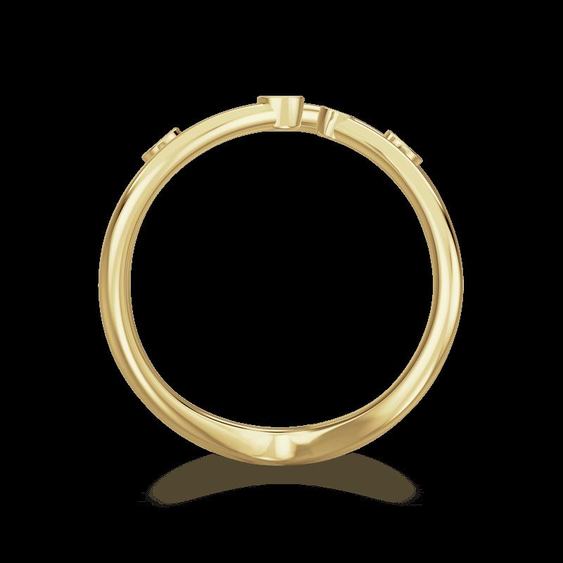 Southern Cross Tube Set Ring 18K Yellow Gold   Shimansky