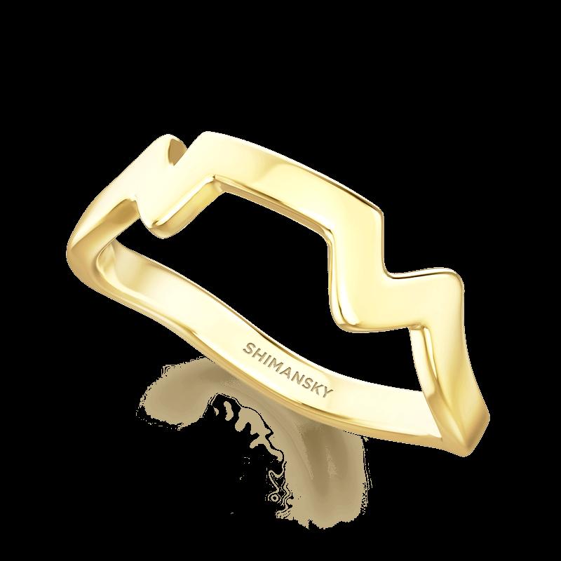 Table Mountain Ring 14K Yellow Gold   Shimansky