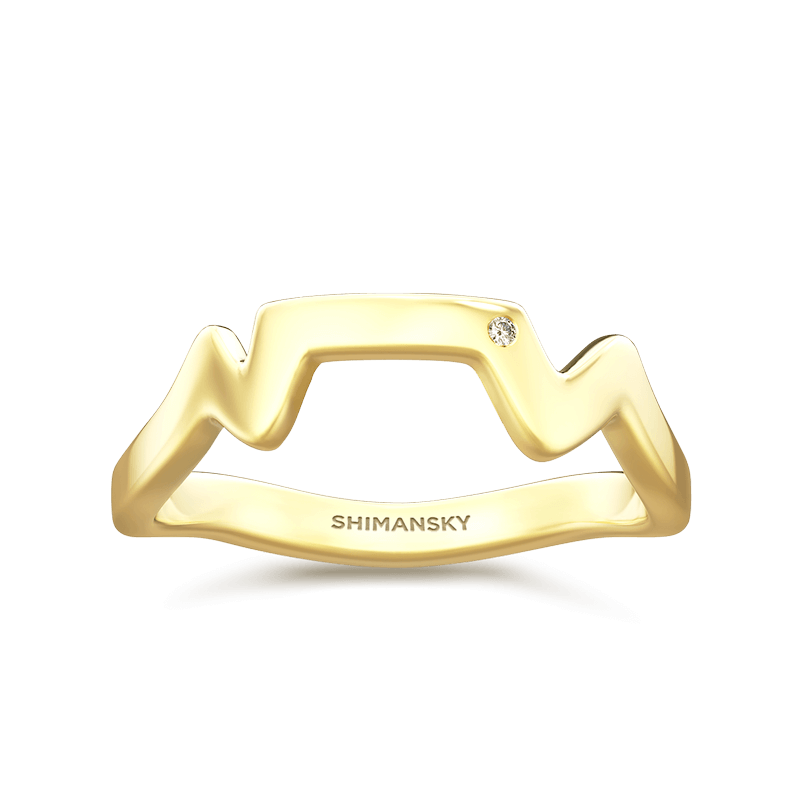 Table Mountain Ring with single Diamond | Shimansky
