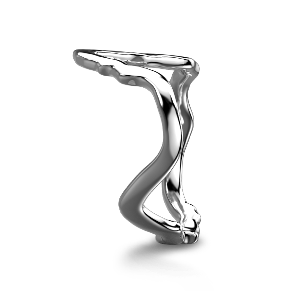 Tip of Africa Pave 18K White Gold | Shimansky