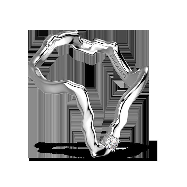 Tip of Africa Solitaire Diamond 18K White Gold | Shimansky