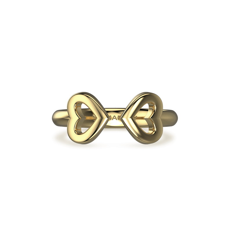 Two Hearts Open Pave ring | Shimansky
