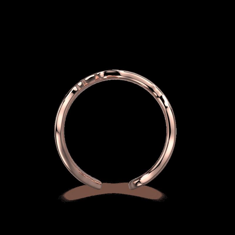 Wrap Africa Pave Ring 18K Rose Gold | Shimansky