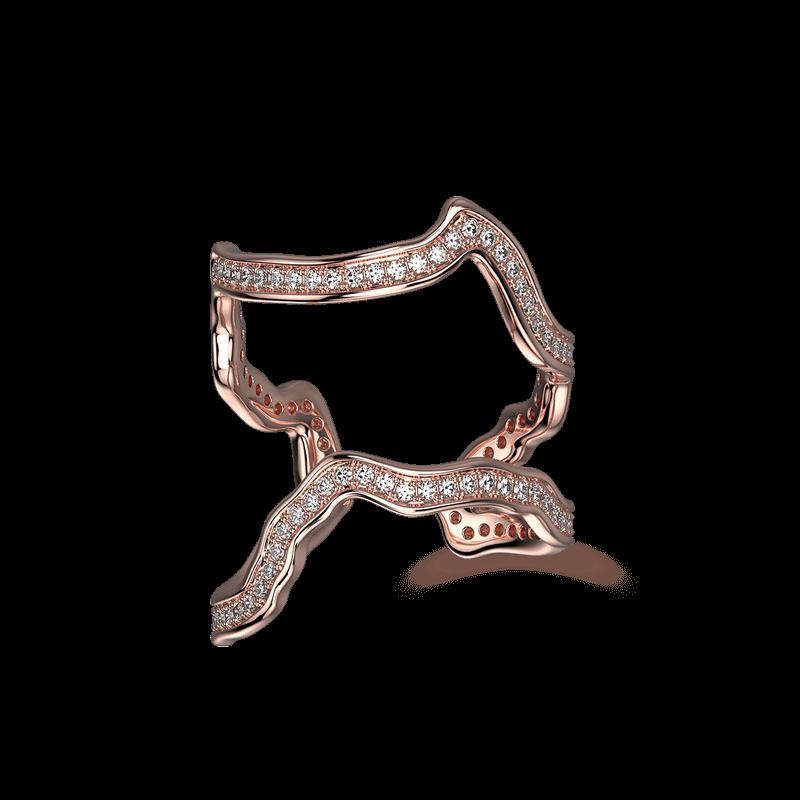 Wrap Africa Pave Ring 18K Rose Gold   Shimansky