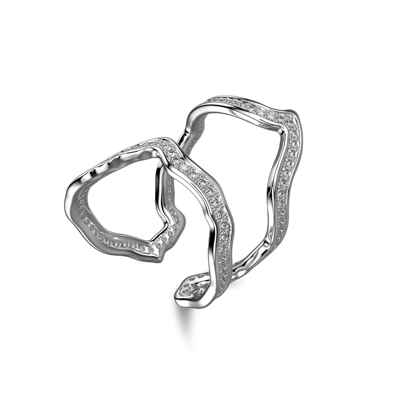 Wrap Africa Pave Ring 18K White Gold | Shimansky