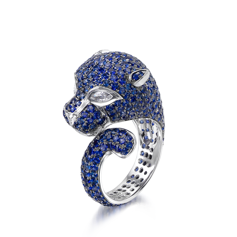 Shimansky Untamed Panther Rings