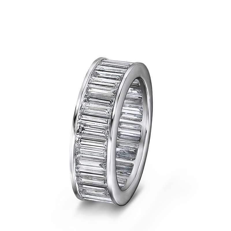 Shimansky Channel Set Baguette Cut Full Eternity Ring
