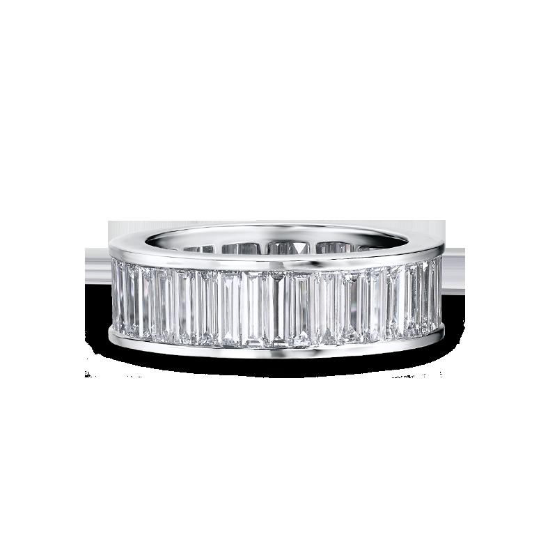 Shimansky Channel Set Baguette Cut Full Eternity Ring
